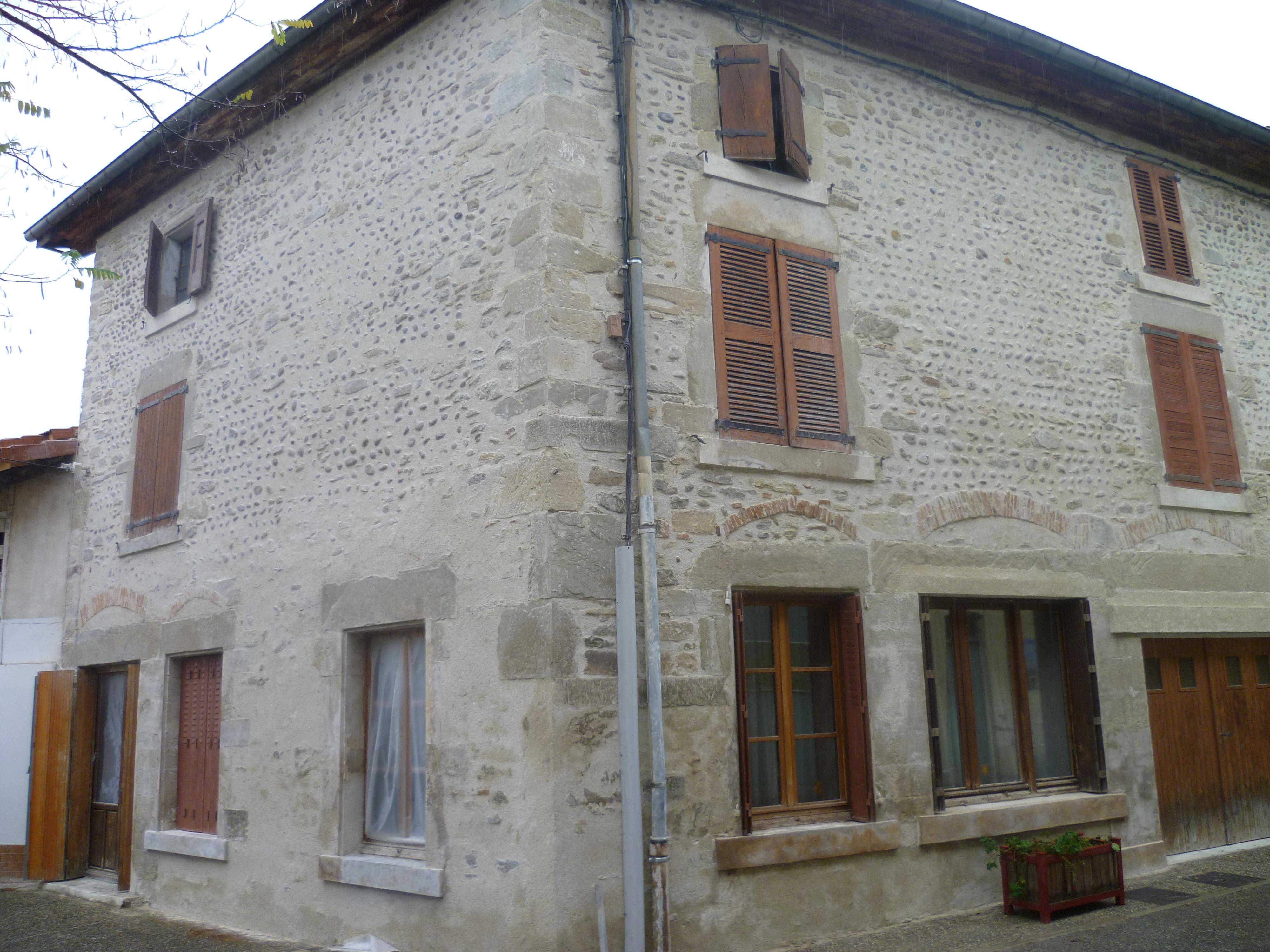 Rejointoiement de façade - Montmiral - Drôme
