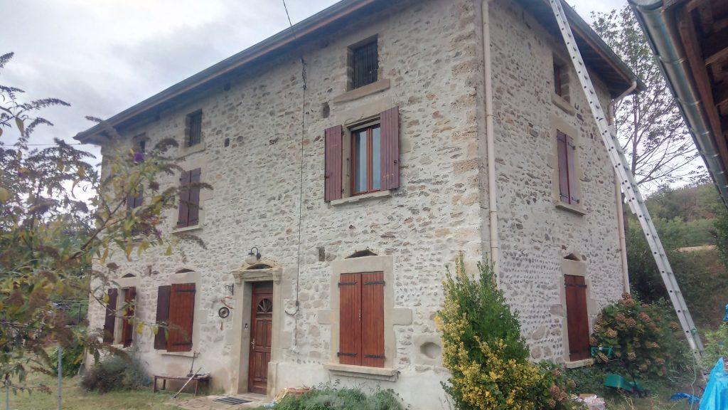 Rejointoiement de façade - Parnans - Drôme des collines